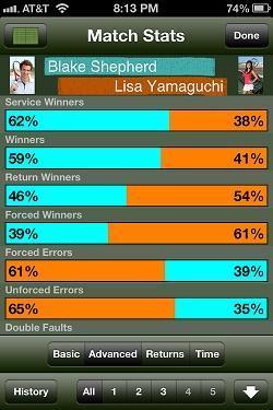 tennis score tracker app
